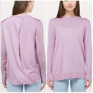 Lululemon Still at Ease Pullover Sweater Lavender